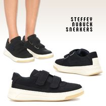 Ance Studios Round Toe Casual Style Plain Leather Low-Top Sneakers