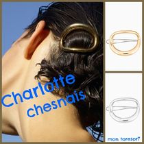Charlotte Chesnais Barettes Casual Style Silver Brass Office Style
