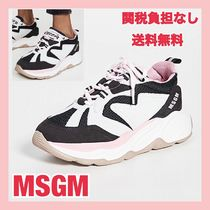 MSGM Platform Round Toe Rubber Sole Lace-up Casual Style Unisex