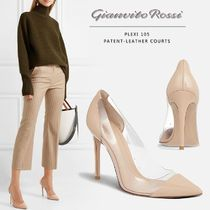 Gianvito Rossi Casual Style Plain Pin Heels Party Style Elegant Style
