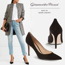 Gianvito Rossi Casual Style Suede Plain Pin Heels Office Style
