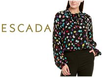 ESCADA Casual Style Silk Long Sleeves Party Style Office Style
