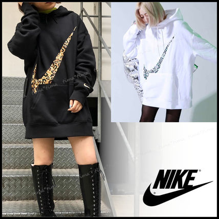 Leopard Patterns Street Style Long Sleeves Cotton