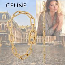 CELINE Triomphe Casual Style Chain Party Style Brass Elegant Style Anklets