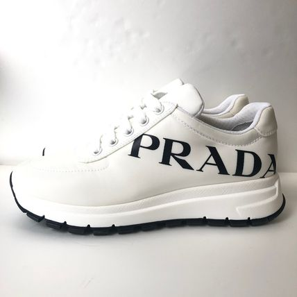 PRADA Low-Top Casual Style Street Style Plain Low-Top Sneakers