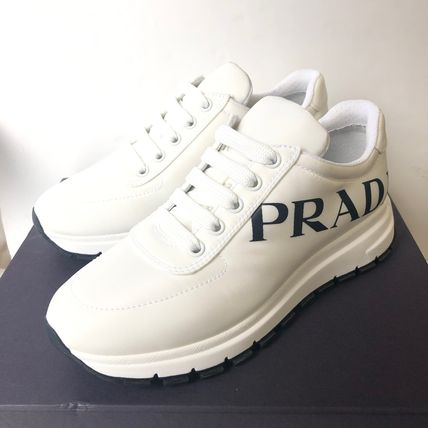 PRADA Low-Top Casual Style Street Style Plain Low-Top Sneakers 4