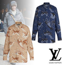 Louis Vuitton Camouflage Monogram Street Style Long Sleeves Cotton Shirts