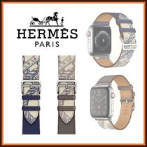 HERMES Casual Style Leather Office Style Elegant Style Watches