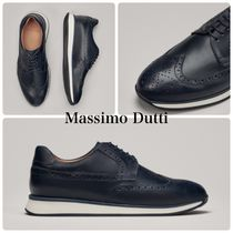 Massimo Dutti Wing Tip Leather Oxfords