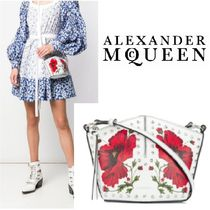 alexander mcqueen Casual Style Leather Party Style Elegant Style Shoulder Bags