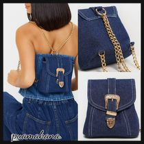 PrettyLittleThing Casual Style Chain Plain Bags