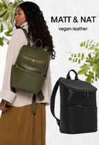 MATT&NAT Casual Style Faux Fur A4 Office Style Backpacks