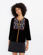 Madewell Flower Patterns Dots Casual Style Puffed Sleeves