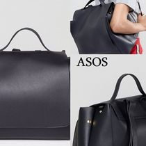 ASOS Casual Style Faux Fur Street Style A4 Plain Backpacks
