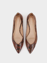 PARFOIS Casual Style Python Pointed Toe Shoes