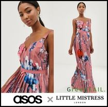 ASOS Flower Patterns Sleeveless V-Neck Long Party Style