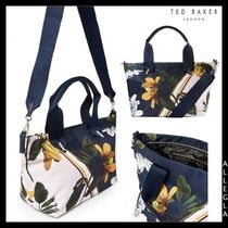 TED BAKER Flower Patterns Nylon 2WAY Totes