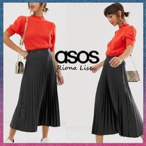 ASOS Casual Style Faux Fur Pleated Skirts Plain Medium