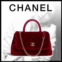 CHANEL Lambskin 2WAY Chain Plain Leather Elegant Style Bold