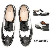 Church's Round Toe Bi-color Plain Leather Loafer & Moccasin Shoes
