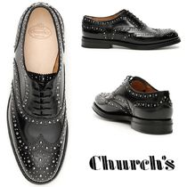 Church's Round Toe Studded Plain Leather Loafer & Moccasin Shoes