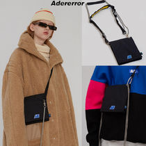 ADERERROR Casual Style Unisex Street Style Logo Shoulder Bags