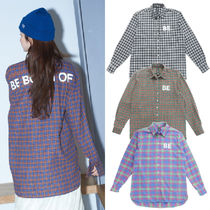 Tartan Other Check Patterns Unisex Street Style Long Sleeves
