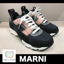 MARNI Rubber Sole Lace-up Casual Style Low-Top Sneakers