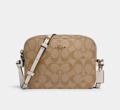 Coach Shoulder Bags Monogram Casual Style Canvas Leather Elegant Style Crossbody 5