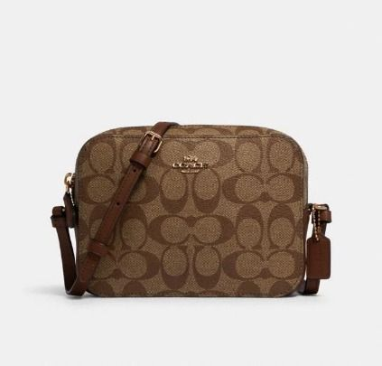 Coach Shoulder Bags Monogram Casual Style Canvas Leather Elegant Style Crossbody 6
