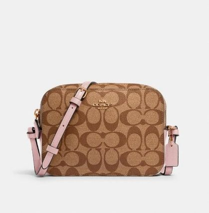 Coach Shoulder Bags Monogram Casual Style Canvas Leather Elegant Style Crossbody 3