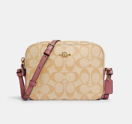 Coach Shoulder Bags Monogram Casual Style Canvas Leather Elegant Style Crossbody 2
