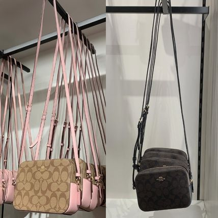Coach Shoulder Bags Monogram Casual Style Canvas Leather Elegant Style Crossbody 14
