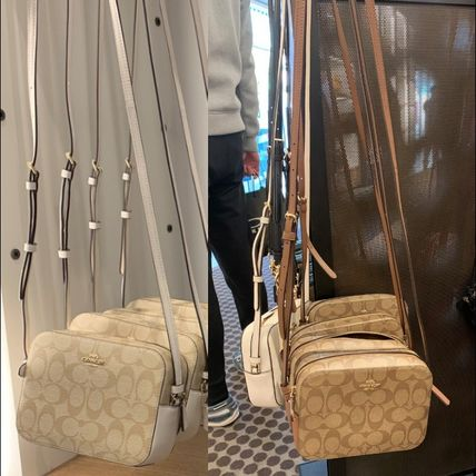 Coach Shoulder Bags Monogram Casual Style Canvas Leather Elegant Style Crossbody 15
