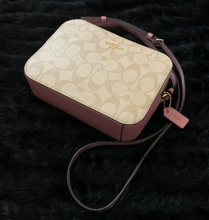 Coach Shoulder Bags Monogram Casual Style Canvas Leather Elegant Style Crossbody 11