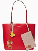 kate spade new york Casual Style Collaboration Leather Office Style Totes