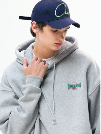 Unisex Street Style Long Sleeves Cotton Oversized Logo