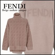 FENDI Short Casual Style Unisex Wool Nylon Blended Fabrics