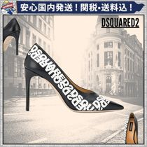 D SQUARED2 Plain Leather Pin Heels Pointed Toe Pumps & Mules