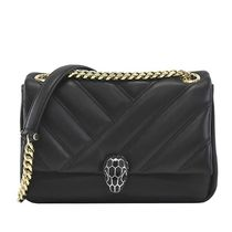 Bvlgari Casual Style Plain Leather Crossbody Shoulder Bags