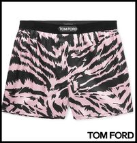 TOM FORD Zebra Patterns Silk Logo Trunks & Boxers