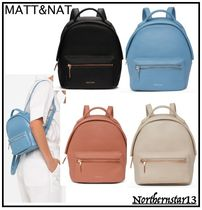 MATT&NAT Casual Style Plain PVC Clothing Backpacks