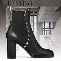 VALENTINO Casual Style Studded Chelsea Boots Elegant Style