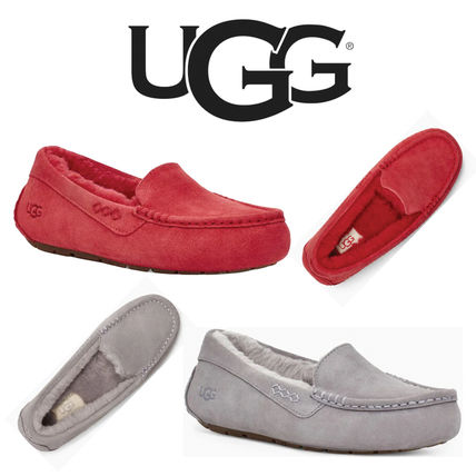 Casual Style Suede Leather Office Style Slip-On Shoes