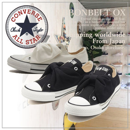 CONVERSE ALL STAR Casual Style Plain Logo Low-Top Sneakers