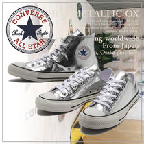 CONVERSE Casual Style Unisex Plain Logo Low-Top Sneakers