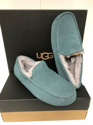 Moccasin Sheepskin Suede Street Style Loafers & Slip-ons