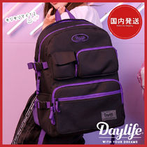Daylife Casual Style Street Style A4 Bi-color Plain Backpacks