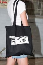 Brandy Melville Casual Style Canvas Street Style A4 Plain Office Style Totes