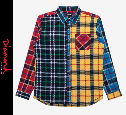 Other Plaid Patterns Street Style Long Sleeves Shirts